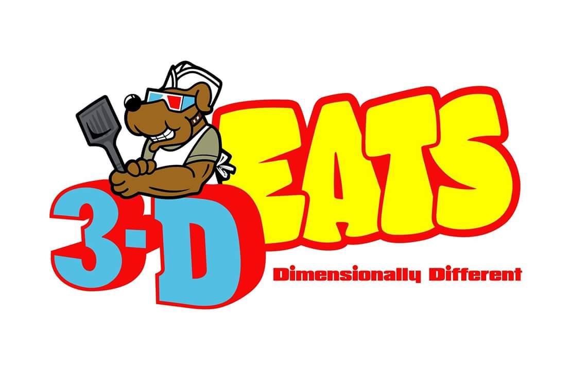 3D eats logo